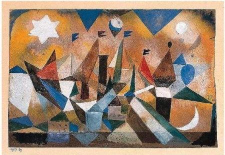 Paul Klee-Segelschiffe, Den Sturm Abwartend (Sailing Ships Waiting For The Storm)-1917