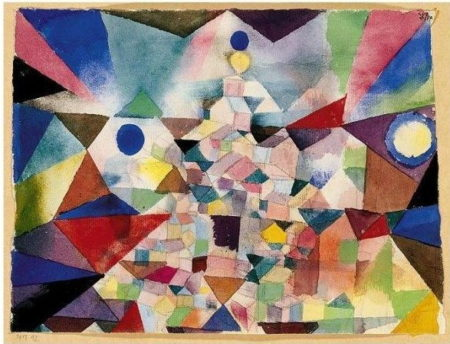 Paul Klee-Stadt Vom Tempel Gekront (City Crowned With A Temple)-1917