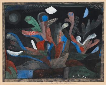 Paul Klee-Dunkelbuntes Gartenbild-1923