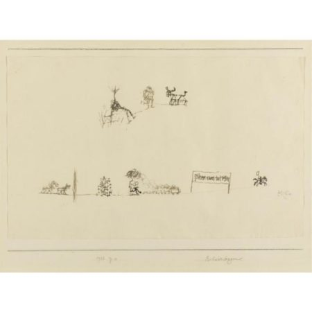 Paul Klee-Bilderbogen (Printed Sheet With Pictures)-1932
