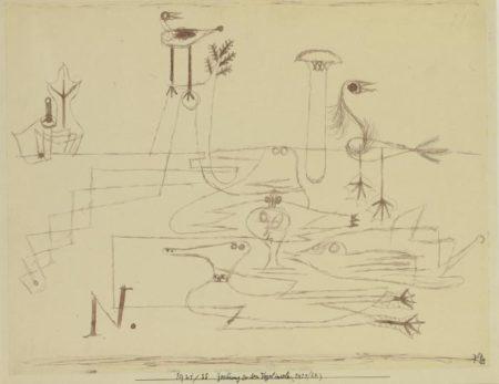 Paul Klee-Zeichnung Zu Den Vogelinseln (Drawing For Bird Islands)-1921