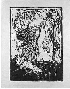 Edvard Munch-Titelzeichnung / Senza titolo (S.114)-1898