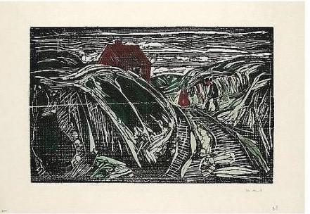 Edvard Munch-Das Haus an der Kuste (s.441)-1915