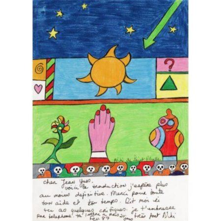Niki de Saint Phalle-Sun and Hand-1987