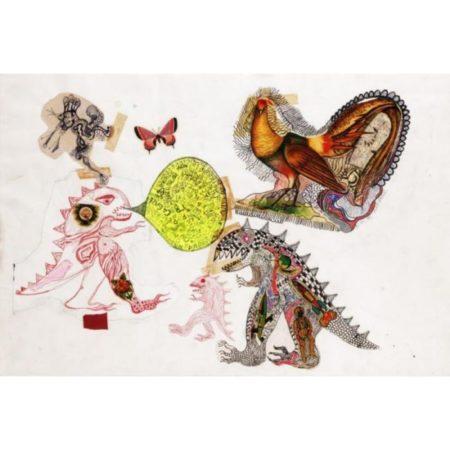 Niki de Saint Phalle-Composition with Butterfly-1963