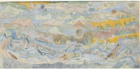 Paul Klee-Forellenbach Miniaturartig (Trout Brook Miniature-like)-1916
