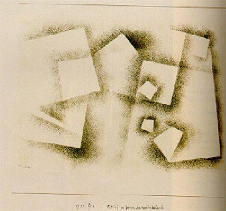 Paul Klee-Relief Im Zeichen Des Rechten Winkels-1930