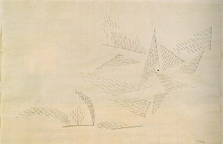Paul Klee-Raumbildung Durch Bewegte Gerade-1931