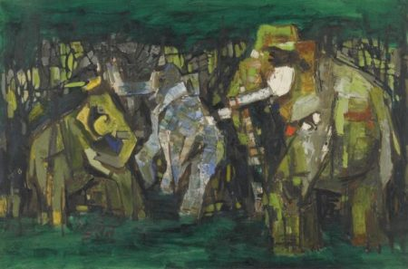 Maqbool Fida Husain-Elephants One-1964