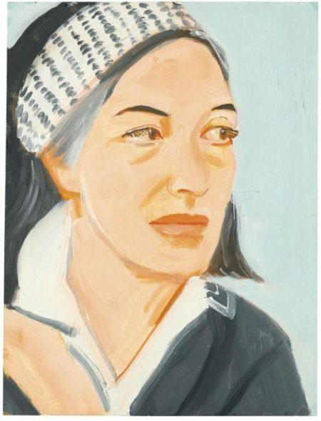 Alex Katz-Ada with Dotted Hairband-1991