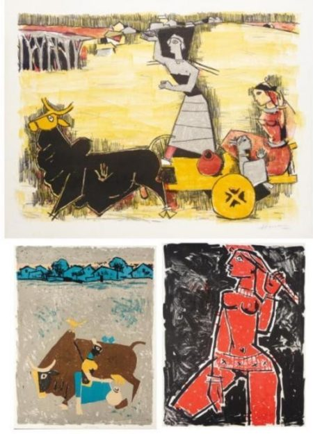 Maqbool Fida Husain-Three Untitled Works-