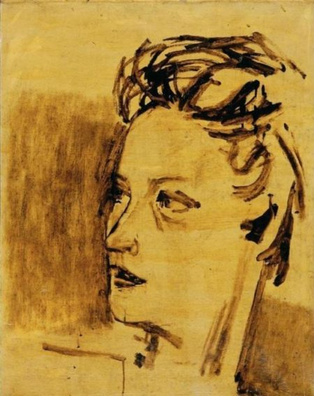 Maqbool Fida Husain-Portrait Maharani (Portrait of a Lady)-1930