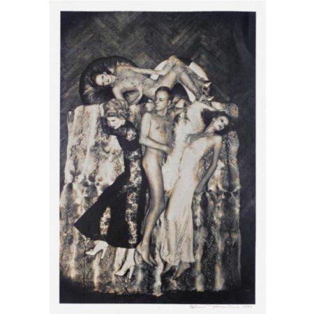 Helmut Newton-Luis Azzaro et ses mannequins-1974