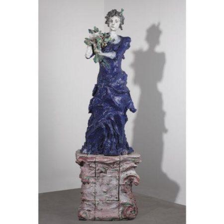 Lucio Fontana-Figura femminile con fiori-1948
