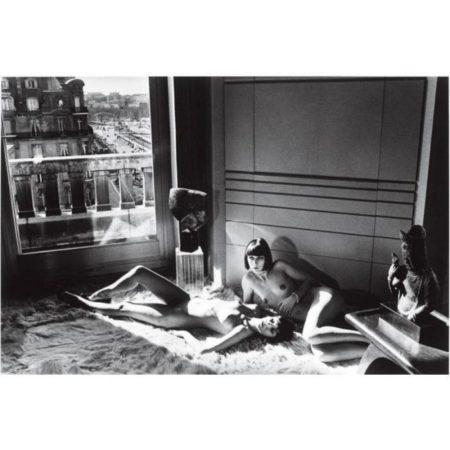 Helmut Newton-Mannequins reclining, Quai d'Orsay, Paris-1977