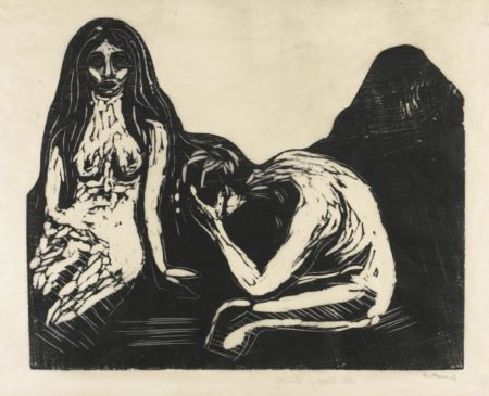 Edvard Munch-Man and Woman (W. 156; Sch. 132)-1899