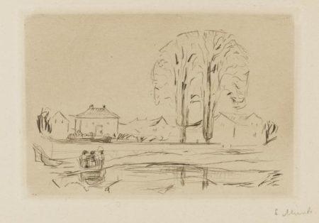 Edvard Munch-Gustav Schiefler. Verzeichnis des Graphischen Werks Edvard Munch bis 1906 (W. 288-289; Sch. 256-260)-1907