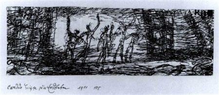 Paul Klee-Candide skizze zum Erdbeden-1911