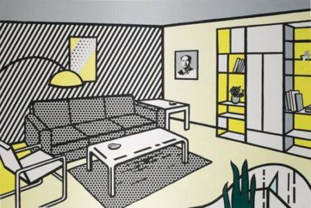 Roy Lichtenstein-Modern Room (Study)-1996