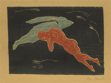 Edvard Munch-Encounter In Space (W. 136; Sch. 135)-1899