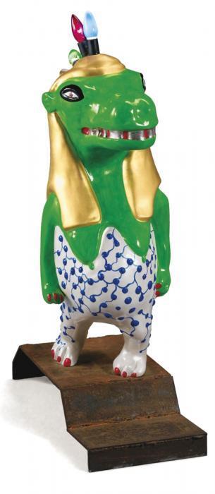 Niki de Saint Phalle-Thoeris - Hippo Lamp, (Green Goddess)-1990