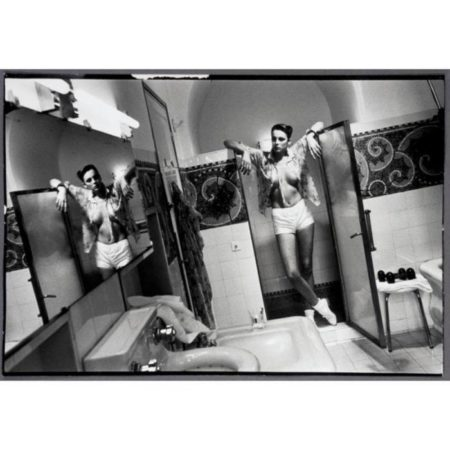 Helmut Newton-Hotel De Crillon (woman Standing In Bathroom), Paris (1979)-1979