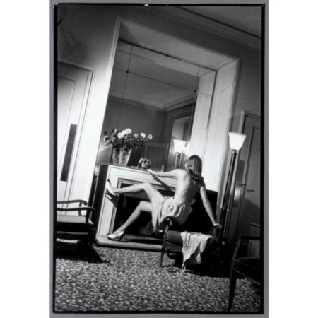 Helmut Newton-Hotel De Crillon (woman By Fireplace), Paris (1979)-1979