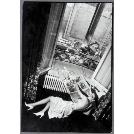 Helmut Newton-Hotel De Crillon (woman By Window), Paris (1979)-1979