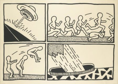 Keith Haring - The Blueprint Drawings (Littman p. 176)-1990