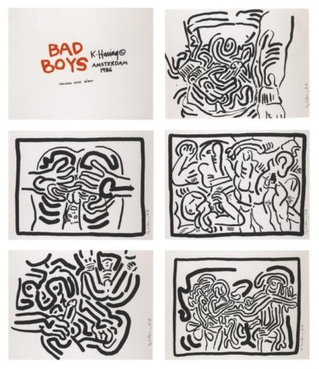 Keith Haring - Bad Boys-1986