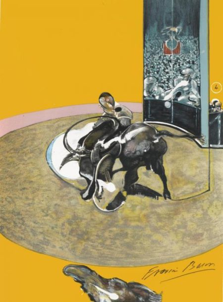 Francis Bacon-Miroir de la Tauromachie: Study for Bullfight No. 2-1990