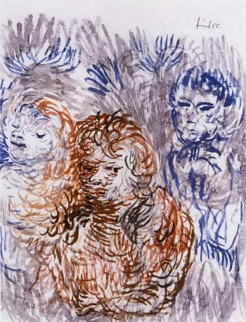 Paul Klee-Schwestern und Jungling/ Mann und Herz (Sisters With Boy / Man And Heart)-1933