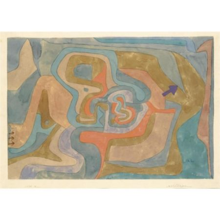 Paul Klee-Entfliegen (Flying Away)-1934