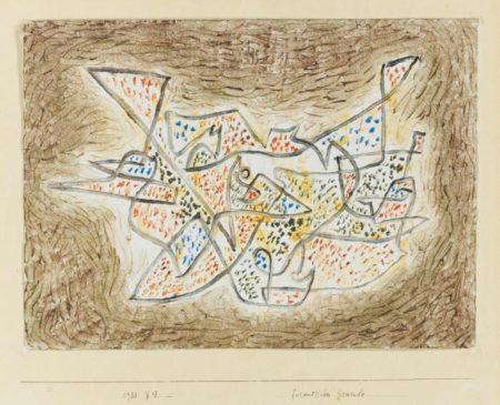Paul Klee-Freundliches Gewinde (Friendly Meandering)-1933
