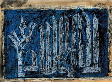 Maqbool Fida Husain-Untitled (Composition)-