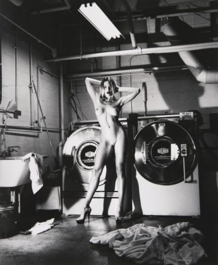 Helmut Newton-Domestic Nude III, In The Laundry Room (1992)-1992