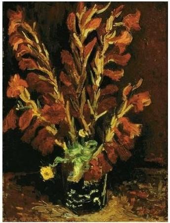 Vincent van Gogh-Vase aux glaieuls-1886