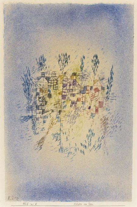 Paul Klee-Hauser Am Park (Houses By The Park)-1925