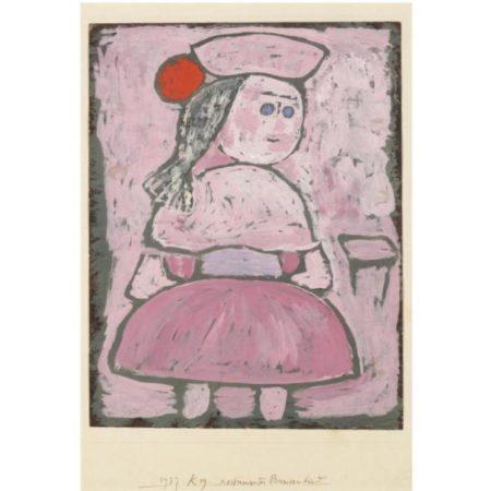 Paul Klee-Kostumiertes Bauernkind (Costumed Peasant Girl)-1937