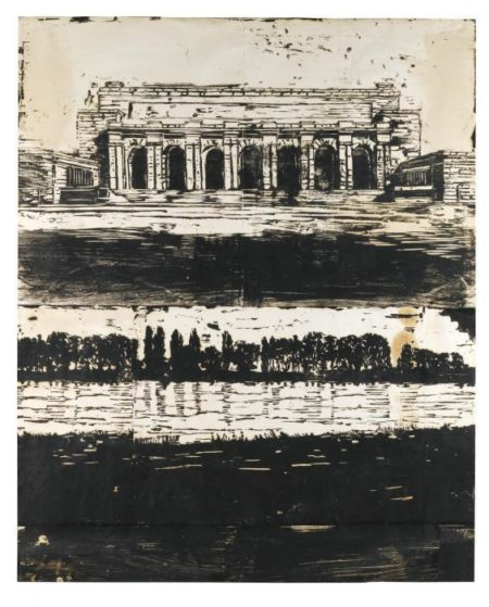 Anselm Kiefer-Untitled (Monument on River)-1982
