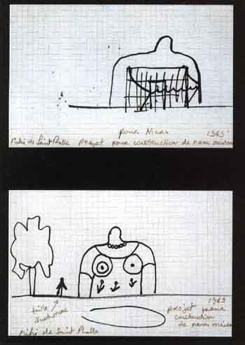 Niki de Saint Phalle-Projet pour construction de nana maison-1969