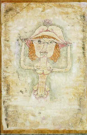 Paul Klee-Die Sangerin L. Als Fiordiligi-1923