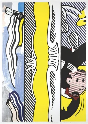 Roy Lichtenstein-Two Paintings: Dagwood (Painting Series)-1984
