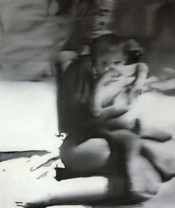 Gerhard Richter-Frau Mit Kind, Strand (Woman with Child, Beach)-1965