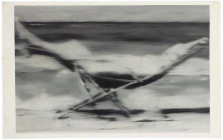 Gerhard Richter-Madchen im Liegestuhl (Girl in Deckchair)-1964