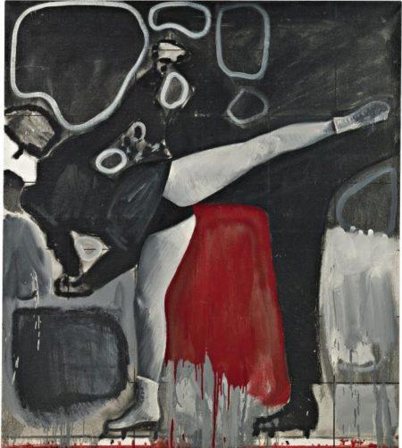 Gerhard Richter-Eislauferin (Ice Skater)-1963