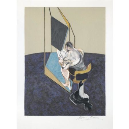 Francis Bacon-Three Studies of Male Back: Centre Panel-1987