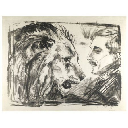 Edvard Munch-Lovetemmeren / The Lion Tamer (Sch. 456; Woll 598)-1916