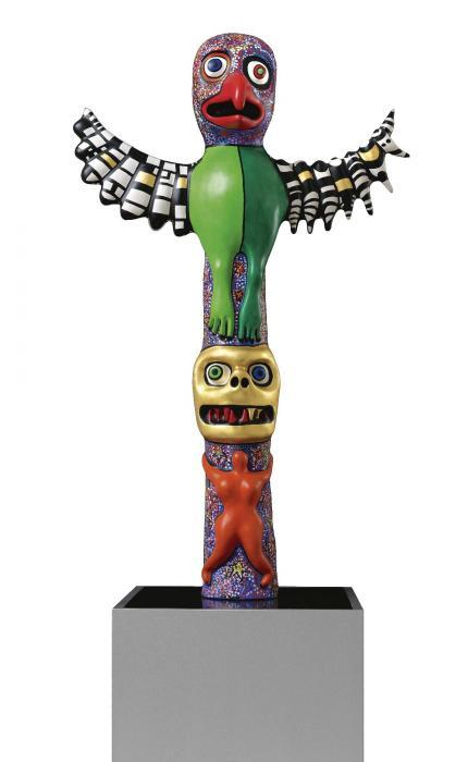 Niki de Saint Phalle-Bird Head Totem-2000