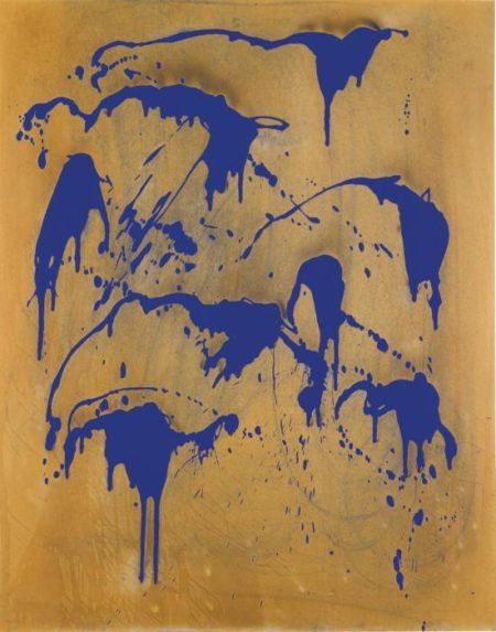 Yves Klein-Untitled Fire Colour Painting (Fc 28)-1962